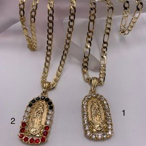 chain and pendant, laminated gold $45 each